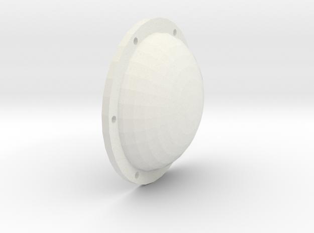Hinterachsdeckel in White Natural Versatile Plastic