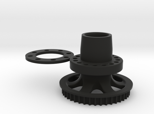 M3R16 Rear Hub - One Piece Inc. GRP Offset Spacer in Black Strong & Flexible