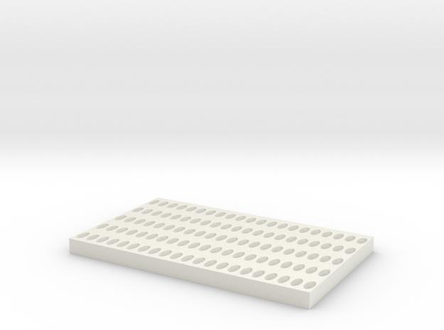 ConeDragChannel Fixed in White Natural Versatile Plastic