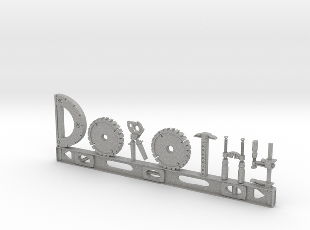 Dorothy Nametag in Aluminum