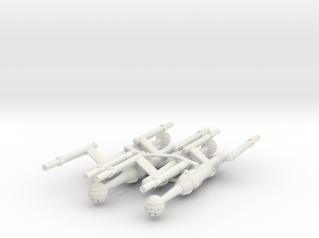 Invader Advanced Frigate 4 Sprue in White Strong & Flexible