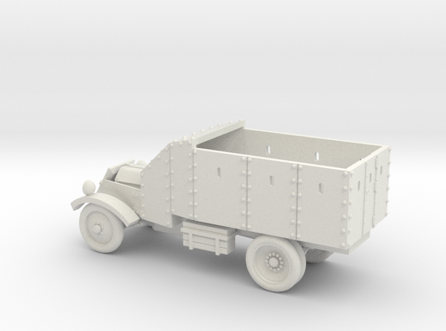 Lancia Armoured Truck 1921 (15mm 1:100 scale) in White Strong & Flexible