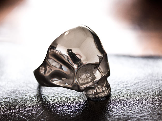 The Original Jawless Skull Ring in Polished Silver