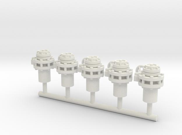 Storz Coupling FIFI (5pcs) in White Strong & Flexible