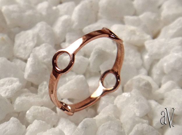 Four Ring Ring in 14k Rose Gold Plated Brass: 5 / 49