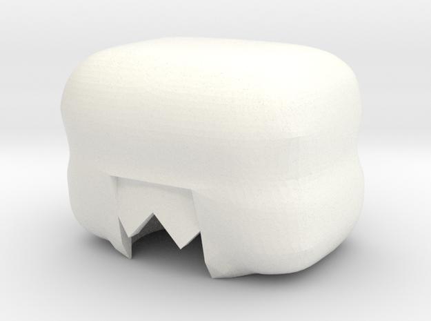 Custom Garnet Inspired Hair for Lego in White Processed Versatile Plastic