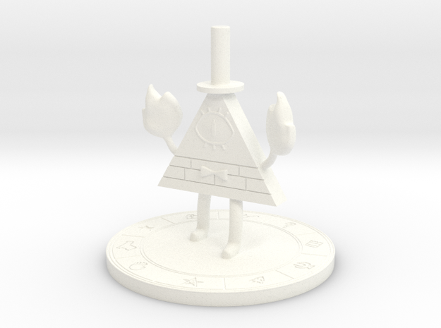 Bill Cipher [Gravity Falls] in White Processed Versatile Plastic