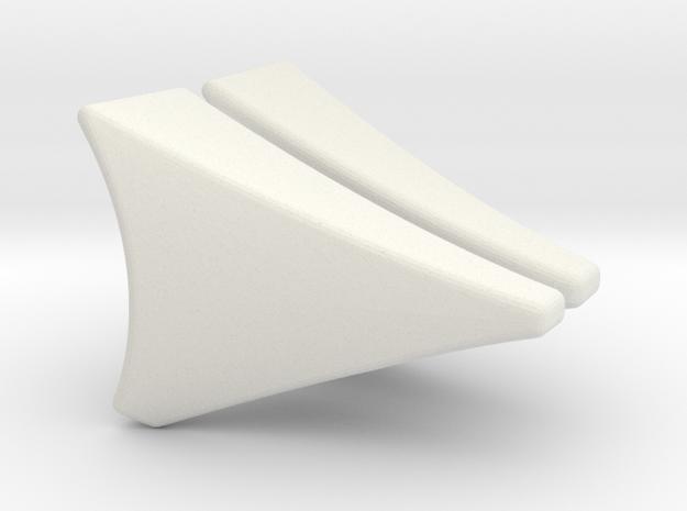 Front Fender 1.5 Deg in White Natural Versatile Plastic