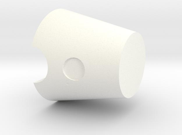 Mini BR Head II in White Processed Versatile Plastic