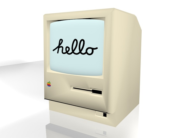 (bigger) Macintosh 128k in Full Color Sandstone