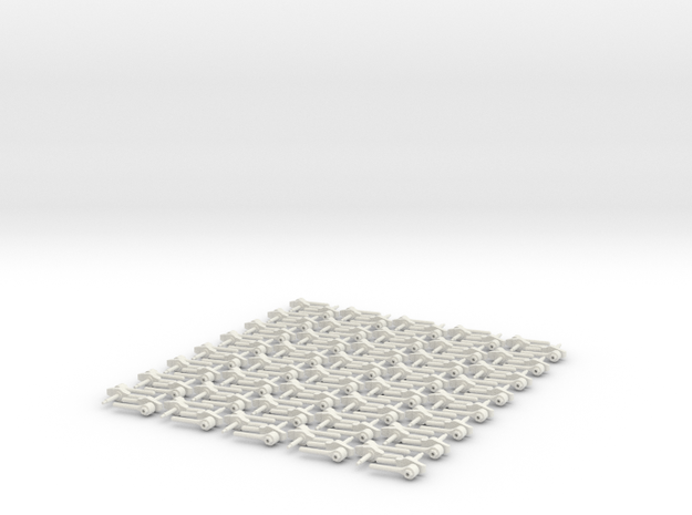 Ballistic Latch Assem 10 1 in White Natural Versatile Plastic