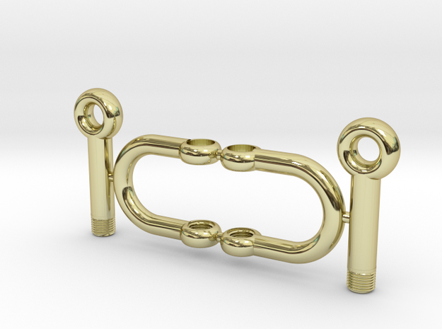 Jewelry-Shackles-M5 in 18k Gold Plated Brass