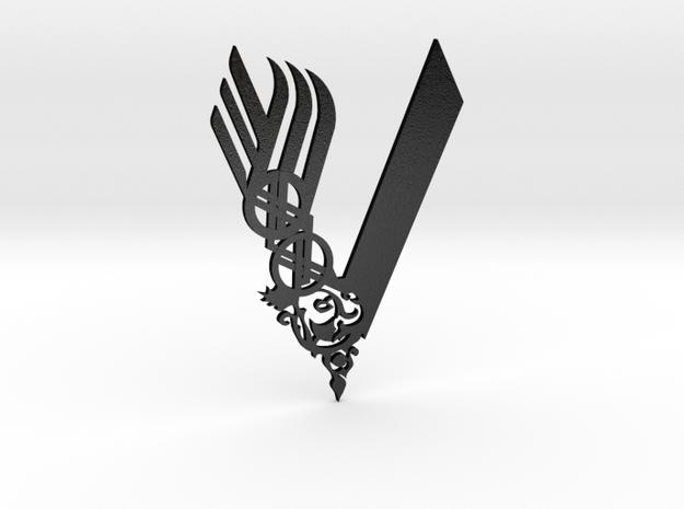 Viking Steel Keychain and pendant in Matte Black Steel
