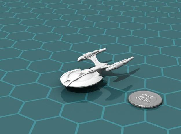 Xuvaxi Adjudicator 3d printed Render of the model, with a virtual quarter for scale.
