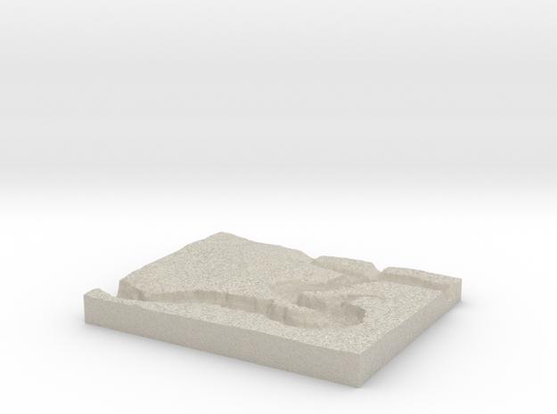 Model of Horseshoe Bend in Natural Sandstone