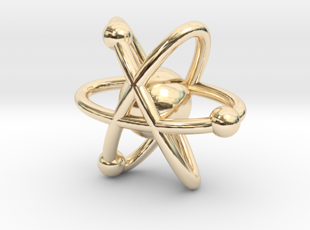 Atom Charm in 14k Gold Plated Brass
