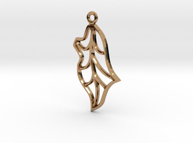 Single Leaf in Polished Brass