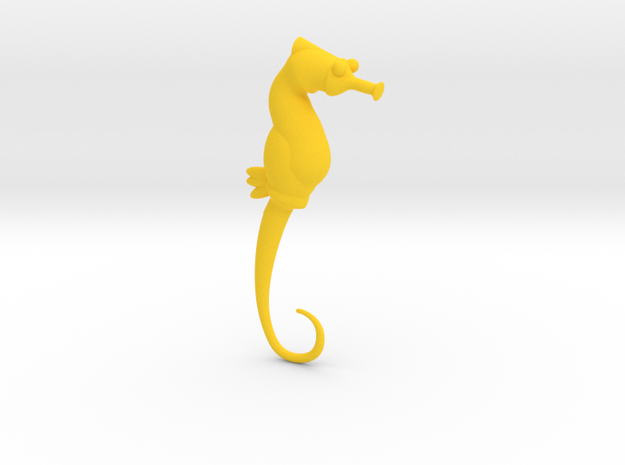 Seahorse 2mm/ 12 gauge in Yellow Processed Versatile Plastic