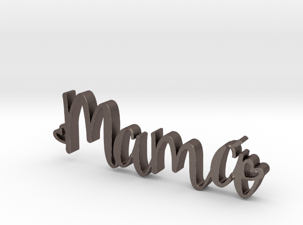 Mama letters in Polished Bronzed Silver Steel