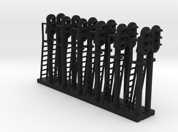 Block Signal 3 Light (Qty 12) - N 160:1 Scale