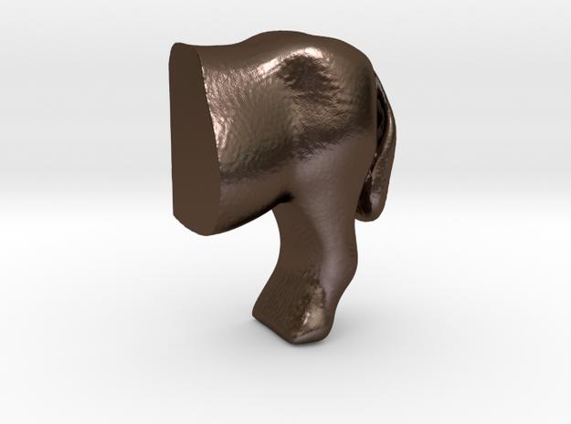 Donkey handle half1 in Polished Bronze Steel