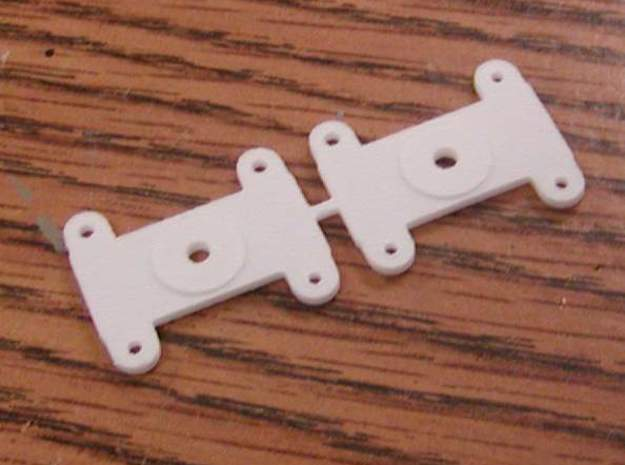 Top mount Bolster for Walthers LW 3 axle truck in White Strong & Flexible