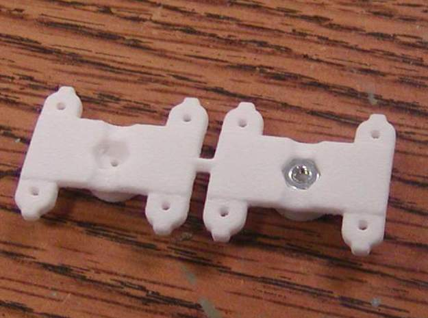 Tall Centered Bolster for Walthers LW 3 axle truck in White Natural Versatile Plastic