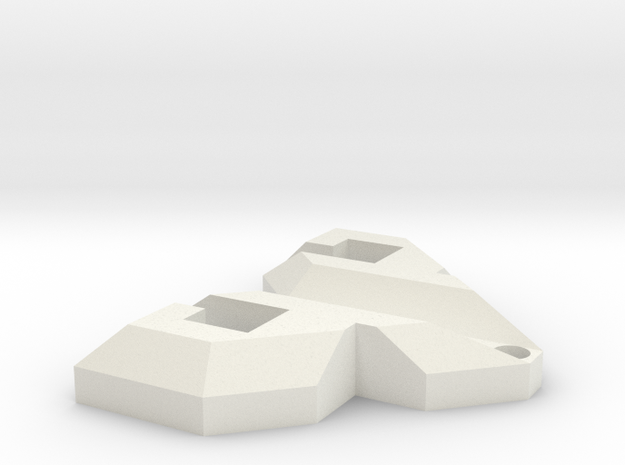 PsyPad keychain in White Strong & Flexible