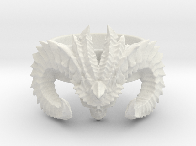 Diablo Ring (size - 2,5) in White Strong & Flexible
