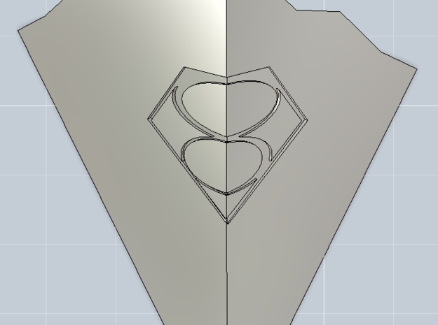 1/6th Smallville - Crystal Of Air in Polished Metallic Plastic