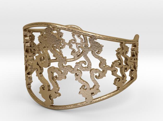 Julia Cuff in Polished Gold Steel