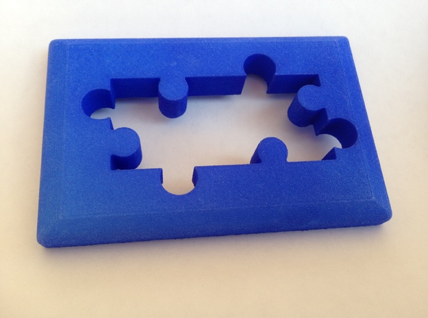 Phat Phont Frame - Single Piece in Blue Strong & Flexible Polished