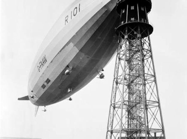 R101 1/1250th scale With Stand in Frosted Ultra Detail