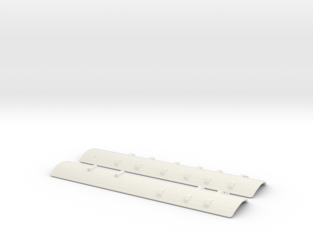 CNR - C-1/C-2 Roofs - S Scale in White Natural Versatile Plastic