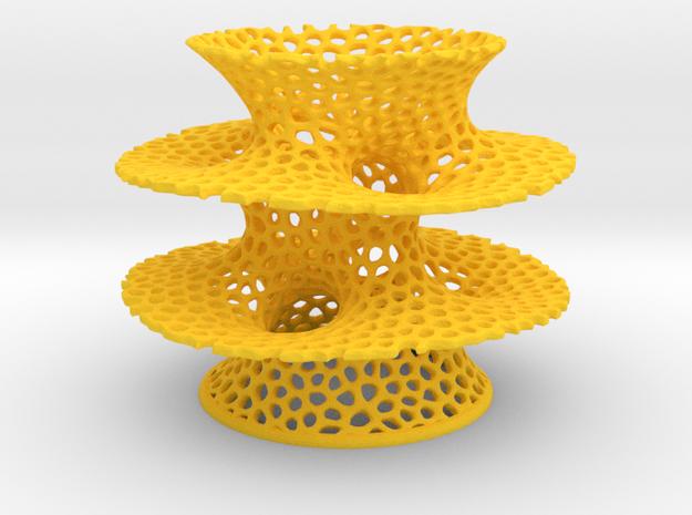 Voronoi Costa Vase in Yellow Processed Versatile Plastic