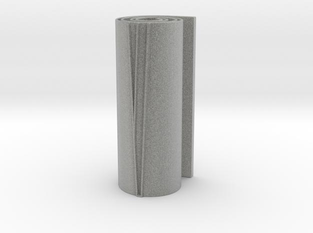 Scroll Mezuzah in Metallic Plastic