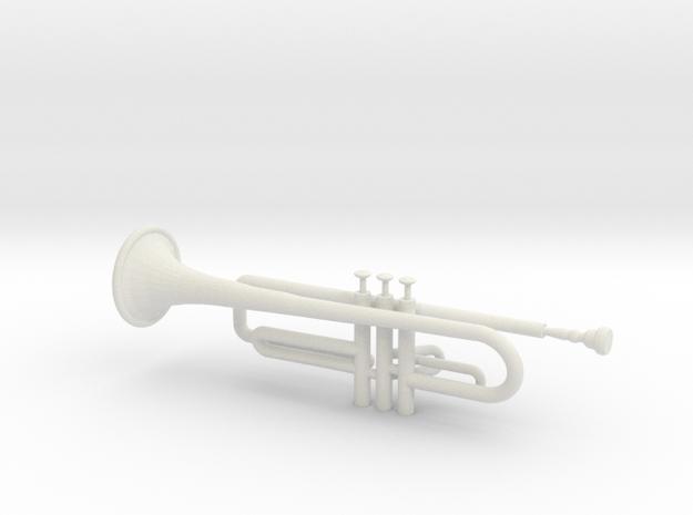 Trumpet in White Natural Versatile Plastic