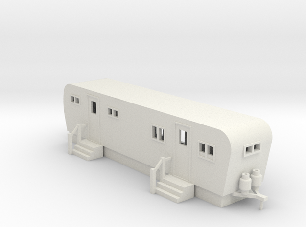 Trailer 30ft - HO 87:1 Scale in White Natural Versatile Plastic