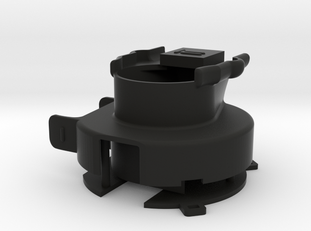 hpi WR8 Flux Gear Housing [Assembly] v1 in Black Strong & Flexible