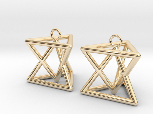 Pyramid triangle earrings type 7