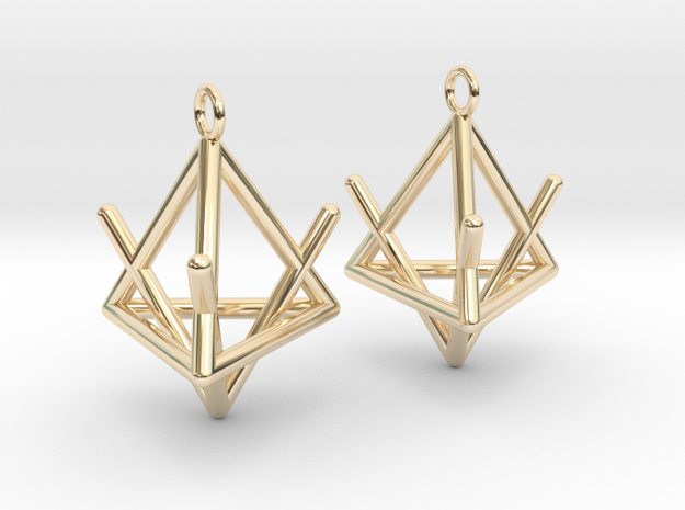Pyramid triangle earrings type 2