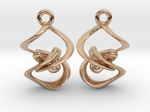 Vortex Flame Earring Set in 14k Rose Gold Plated Brass