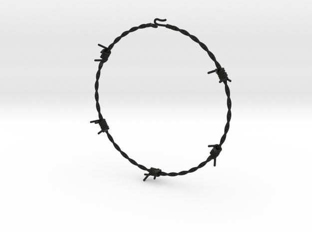 Barbed Wire Choke 2mm in Black Natural Versatile Plastic