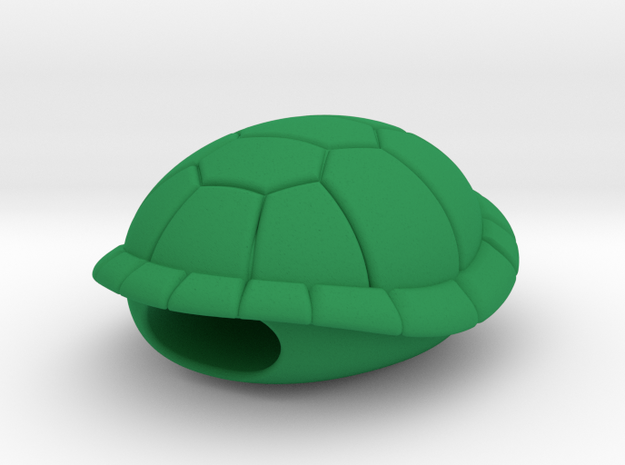 Turtle Shell Lacelock/Dubrae in Green Processed Versatile Plastic