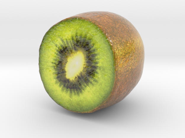 The  Kiwifruit-Half-mini in Glossy Full Color Sandstone