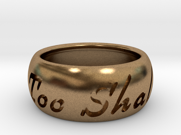 This Too Shall Pass ring size 7.5 in Raw Brass