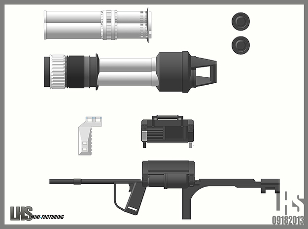1/6 scale Rocket Launcher 3d printed