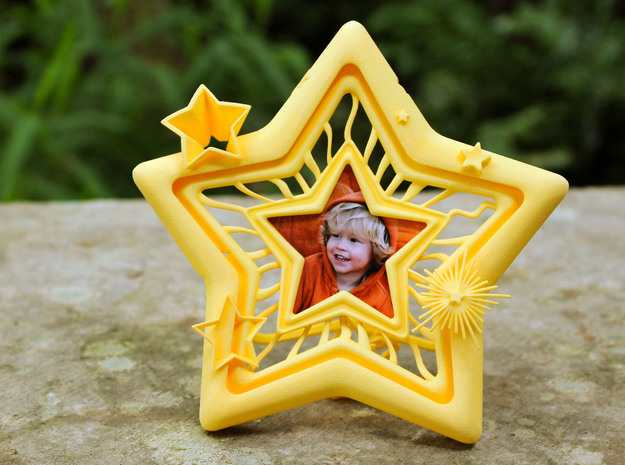 Star Frame in Yellow Processed Versatile Plastic