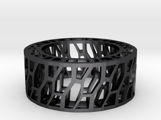 Framework Ring- Intrincate in Polished and Bronzed Black Steel