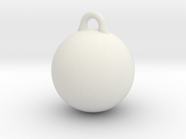 Smooth Wrecking Ball for Bruder Crane Toy in White Natural Versatile Plastic